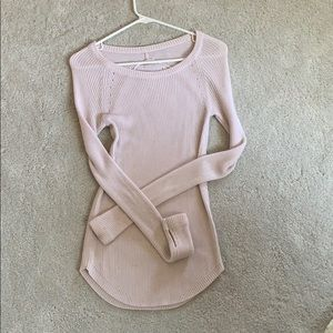 Lululemon cabin yogi long sleeve in pink